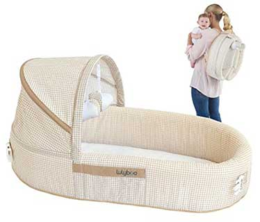 LulyBoo Baby Lounge Portable Infant Bed Folds